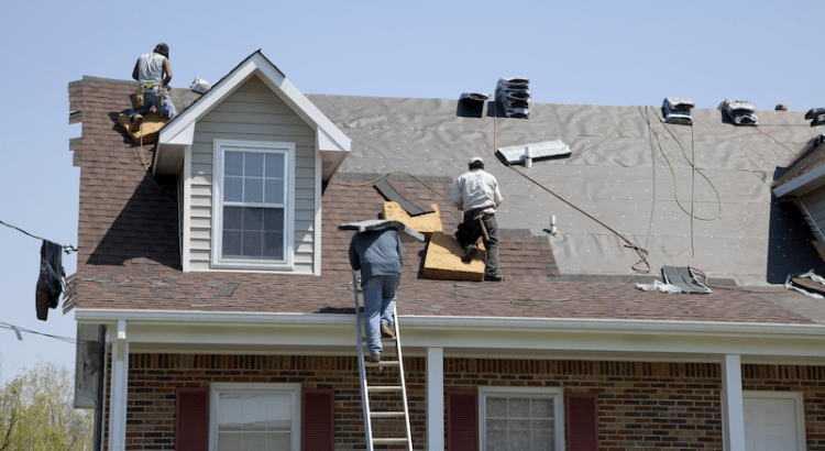 Roofers working on roof in Chester